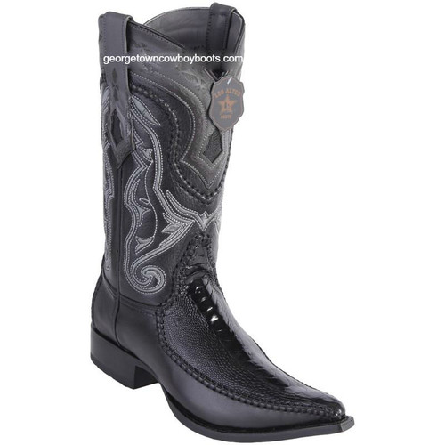 Men's Los Altos Ostrich Leg Boots With Deer 3x Toe Handcrafted 9520505