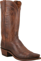 Lucchese Heritage Mens Tan Burnished Ranch Hand Cowboy Boots N1596