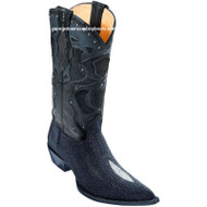 Men's Los Altos Single Stone Stingray 3x Toe Boots Handmade 95vf1205