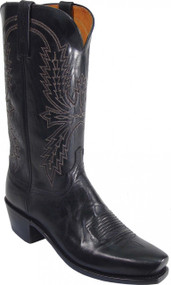 Lucchese Since 1883 Black Burnished Mad Dog Goat N1560 Crayton