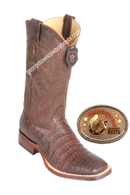 Men's Los Altos Caiman Belly Square Toe Boots Handcrafted 826G8207