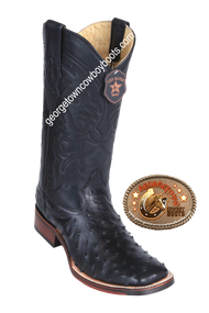 Men's Los Altos Full Quill Ostrich Boots Square Toe Handcrafted 8260305