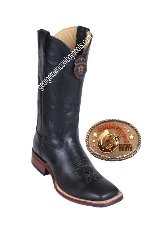 Men's Los Altos Leather Square Toe Boots Handcrafted 8263805