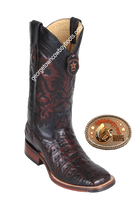 Men's Los Altos Caiman Belly Square Toe Boots Handcrafted 8268218