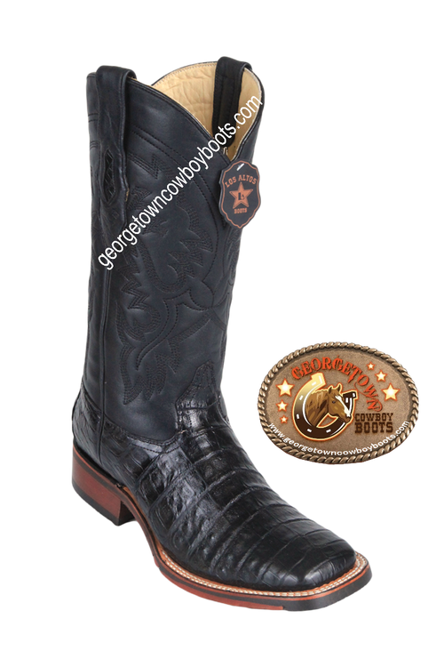 Men's Los Altos Caiman Belly Square Toe Boots Handcrafted 8268205