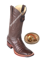 Men's Los Altos Caiman Belly Square Toe Boots Handcrafted 8268207
