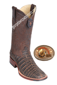 Men's Los Altos Caiman Belly Square Toe Boots Handcrafted 8268235