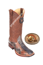 Men's Los Altos Square Toe Python Boots Handcrafted 8265788