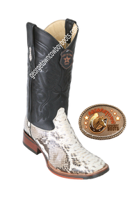 Men's Los Altos Square Toe Python Boots Handcrafted 8265749