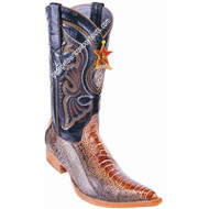 Men's Los Altos Genuine Ostrich Leg 3x Toe Boots Handcrafted 950588