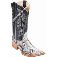 Men's Los Altos Genuine Python Snakeskin 3x Toe Boots Handmade 955749