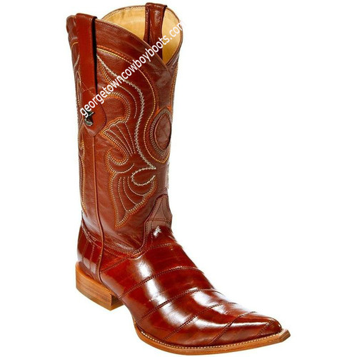 Men's Los Altos Genuine Eel 3x Toe Boots Handcrafted 950803