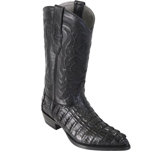 Caiman Alligator Tail Western Cowboy Mens Boots By Los