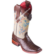 Women's Los Altos Caiman Belly Boots Wide Square Toe Handcrafted 3228207