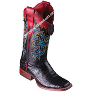 Women's Los Altos Caiman Belly Boots Wide Square Toe Handcrafted 3228205