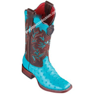 Women's Los Altos Ostrich Boots Wide Square Toe Handcrafted 3220308
