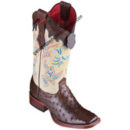 Women's Los Altos Ostrich Boots Wide Square Toe Handcrafted 3220307