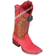 Women's Los Altos Teju Lizard Boots Wide Square Toe Handcrafted 3220720