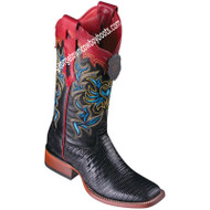 Women's Los Altos Teju Lizard Boots Wide Square Toe Handcrafted 3220705
