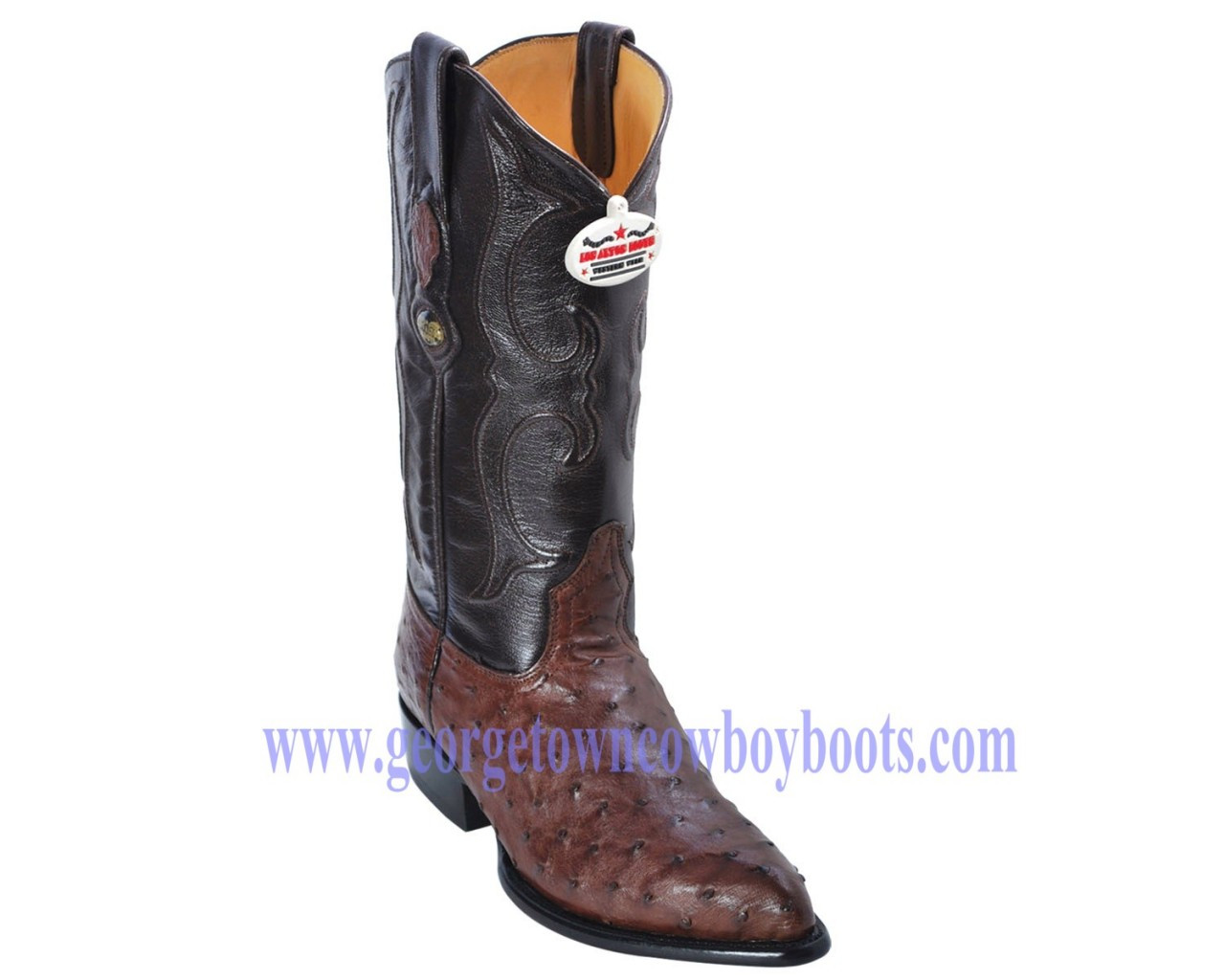 f67a6ef707 OSTRICH FULL QUILL WESTERN COWBOY BOOTS J-TOE MEN S BY LOS ALTOS ...