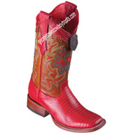 Women's Los Altos Teju Lizard Boots Wide Square Toe Handcrafted 3220712