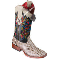 Women's Los Altos Python Boots Wide Square Toe Handcrafted 3225749