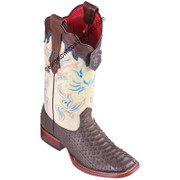 Women's Los Altos Python Boots Wide Square Toe Handcrafted 322N5707