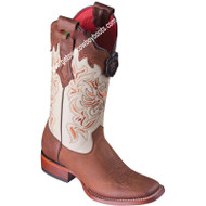 Women's Los Altos Leather Boots Wide Square Toe Handcrafted 3225235