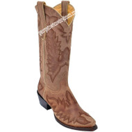 Women's Los Altos Snip Toe Leather Boots With Hand Embroidery 345011