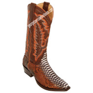 Womens Los Altos Snip Toe Python Boots Handcrafted 345788