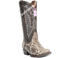 Womens Los Altos Snip Toe Python Boots Handcrafted 345785