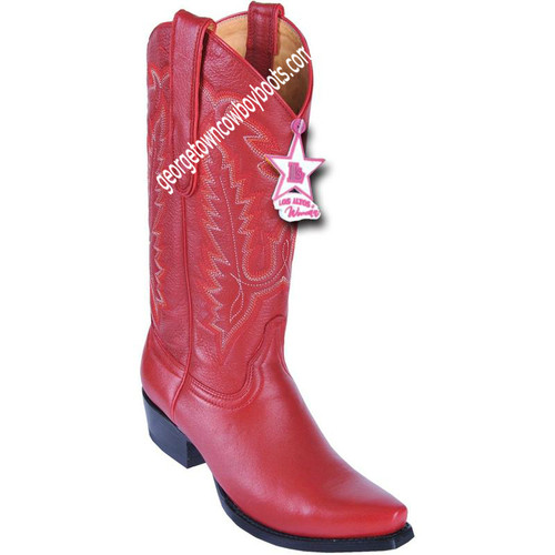 Women's Los Altos Snip Toe Deer Leather Boots Handcrafted 348312