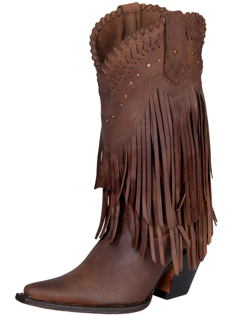 hot-selling cheap find lowest price quite nice Premier Ladies Cowboy Western Leather Fringe Boots & Studs