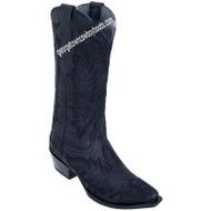 Women's Los Altos Snip Toe Leather Boots With Hand Embroidery 34N5005