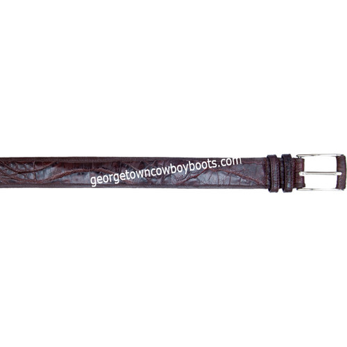 Los Altos Caiman Belly Dressy Belt Belt With Leather Lining Handcrafted c158207
