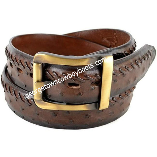 Los Altos Full Quill Ostrich Belt With Removable Buckle Handmade c230307