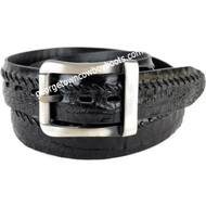 Los Altos Caiman Belly Belt With Removable Buckle/Leather Lining C238205