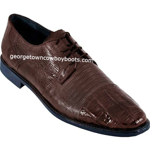 Men's Los Altos Caiman Belly W Teju Lizard Cap Toe Derby Shoes zv093707