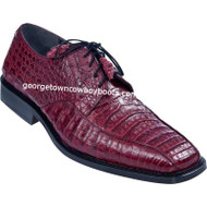 Men's Los Altos Burgundy Caiman Bicycle Toe Derby Shoes ZV038206