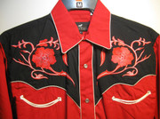 Red Retro Western Shirt