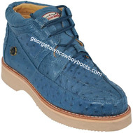 Men's Los Altos Full Quill Ostrich Casual Shoes Handcrafted ZA060314