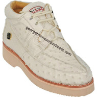 Men's Los Altos Full Quill Ostrich Casual Shoes Handcrafted ZA060304