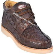 Men's Los Altos Caiman With Ostrich Casual Shoes Handcrafted ZA050207