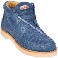 Men's Los Altos Caiman With Ostrich Casual Shoes Handcrafted ZA050214