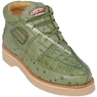 Men's Los Altos Caiman With Ostrich Casual Shoes Handcrafted ZA050248