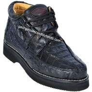 Men's Los Altos Caiman With Ostrich Casual Shoes Handcrafted ZA050205