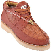 Men's Los Altos Caiman With Smooth Ostrich Casual Shoes Handcrafted ZA052803