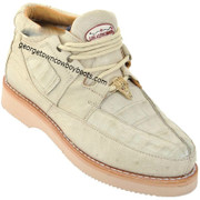Men's Los Altos Caiman With Smooth Ostrich Casual Shoes Handcrafted ZA052804
