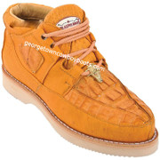 Men's Los Altos Caiman With Smooth Ostrich Casual Shoes Handcrafted ZA052802