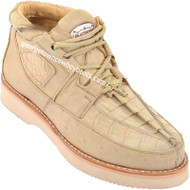 Men's Los Altos Caiman With Smooth Ostrich Casual Shoes Handcrafted ZA052811